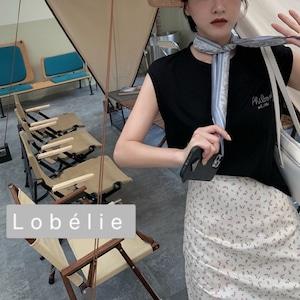 スカーフ付き刺繍ノースリカットソー LCZ61600