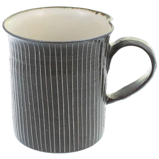 京焼 清水焼 関陶房 マグカップ 290ml 京さび黒十草 588927