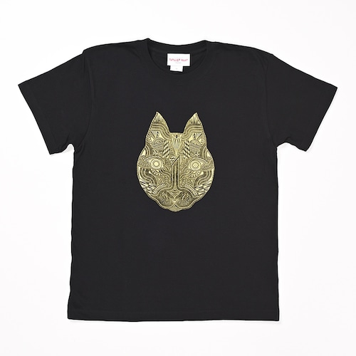 【限定カラー】◆Apsu Shuseiコラボ◆「世界一怪談を聞いている猫」Tシャツ BLACK×GOLD