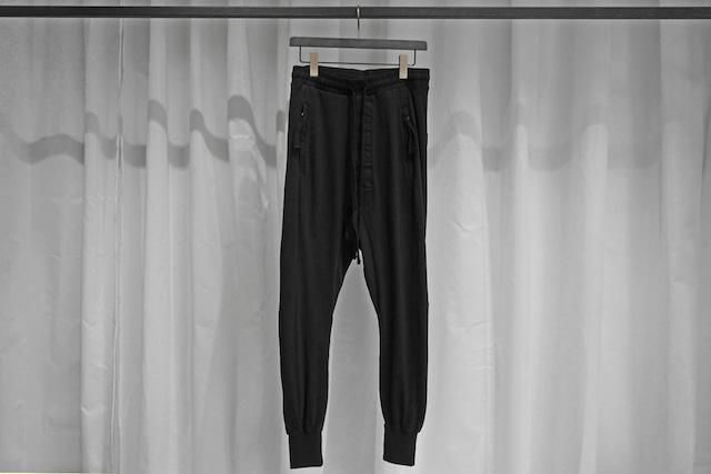 thom krom / RIB SWEAT PANTS / BLK