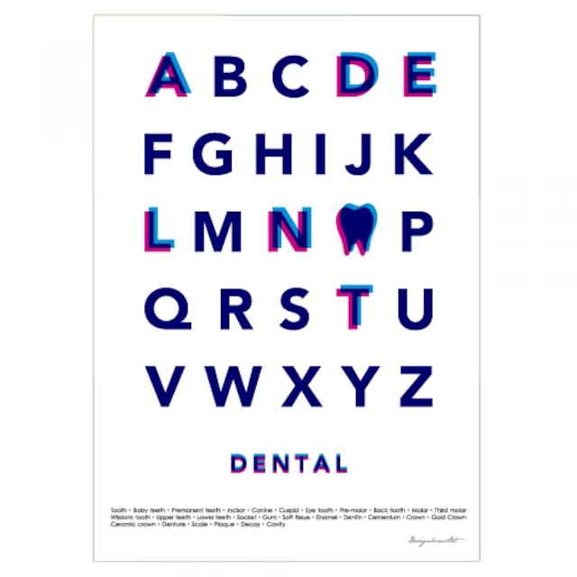 Typography(DENTAL) B3ポスター