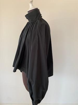 Bouffant sleeve tops/ cotton black
