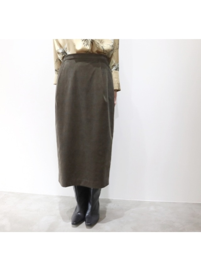 シャンブレーコールタイトスカート
