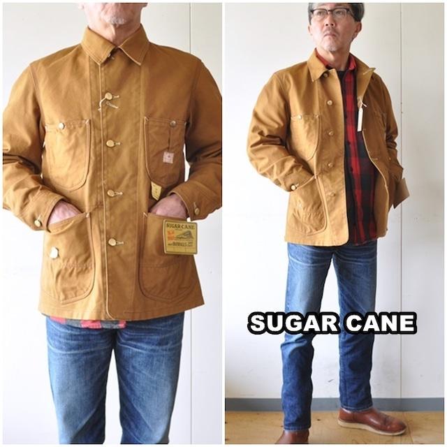 SUGAR CANE シュガーケーン  13オンス ブラウンダック  WORK COAT   SC14374  日本製  カバーオール  ワーク ジャケット
