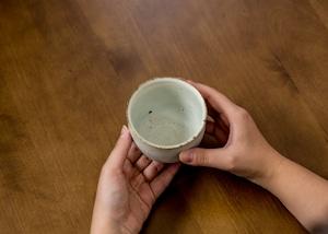 灰マット釉 粉引き湯呑(フリーカップ・湯呑み)/くるり窯