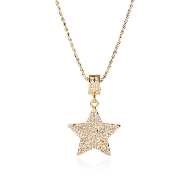 Iced Out Star Necklace