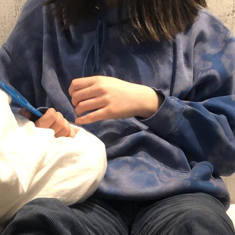 bleach tie-dye pullover