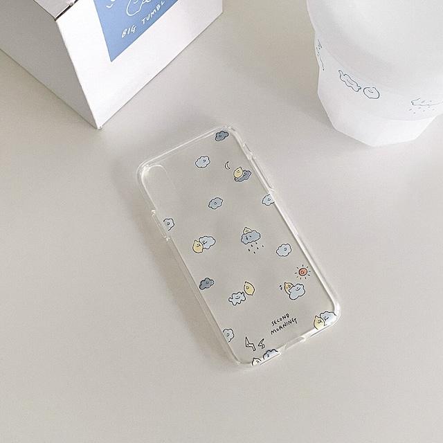 【新機種追加!!!】[second morning] lemony & cloud クリア iPhoneケース (5機種)