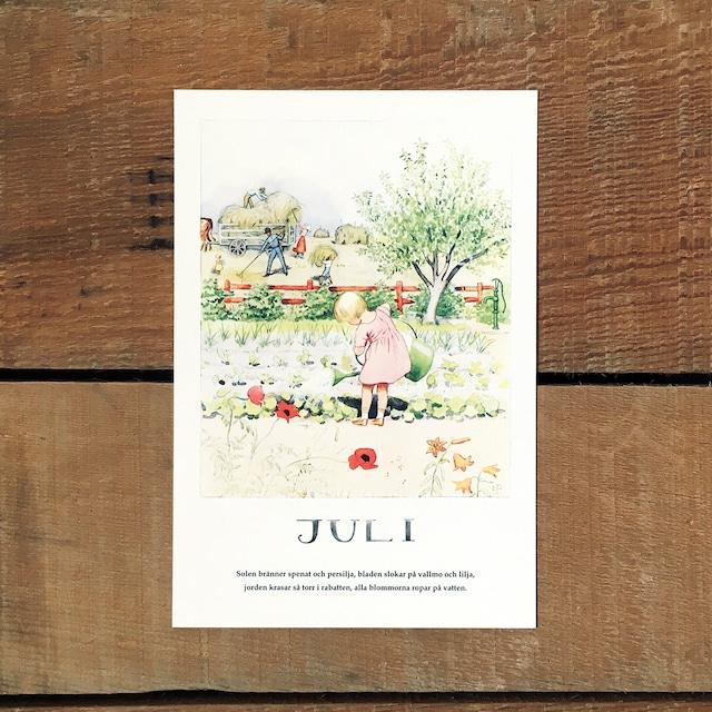 ポストカード「7月@JULI(いちねんのうた - 07)」