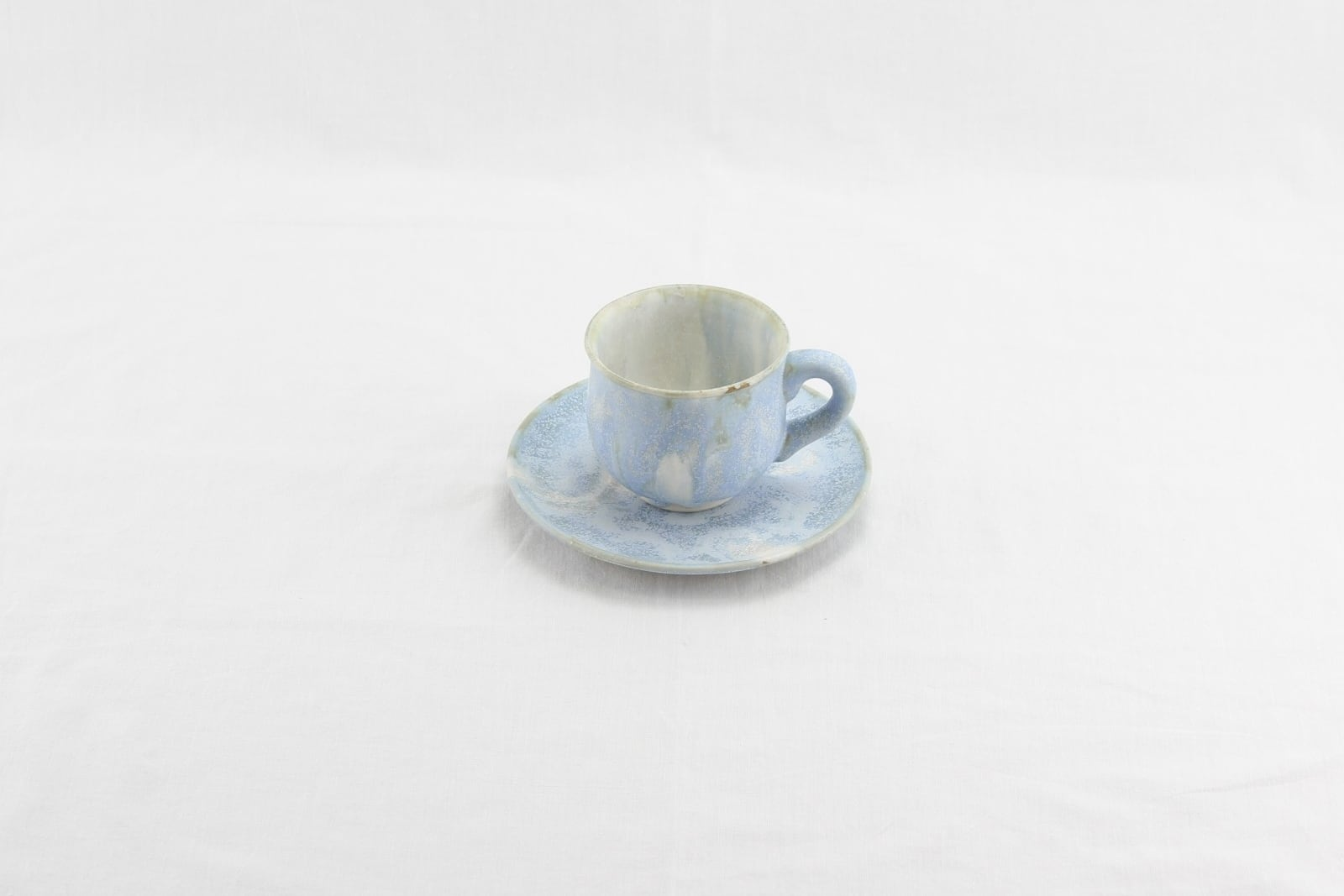 メルヘン釉カップ&ソーサー(青白)