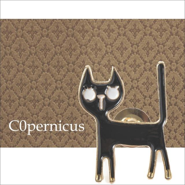 黒猫ブローチ ネコ雑貨/浜松雑貨屋C0pernicus