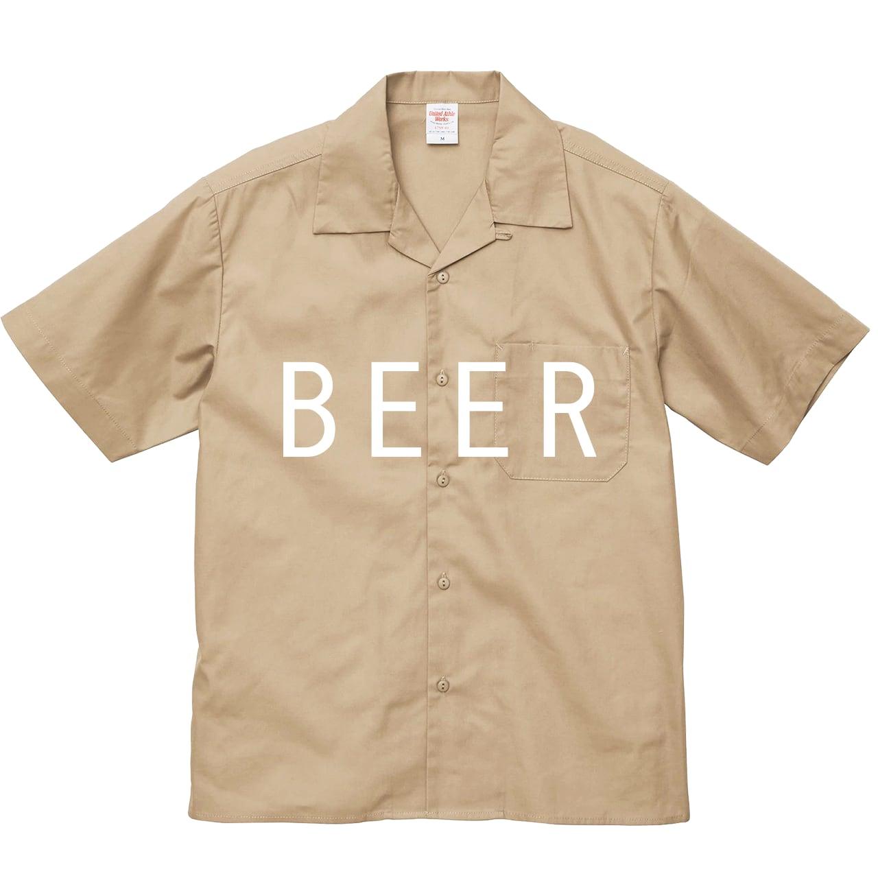 BEER 開襟シャツ モカベージュ