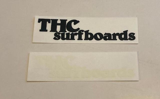 【THC SURFBOARDS】THC サーフボード ステッカー 黒白2枚セット 横長タイプ