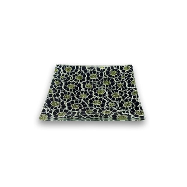 ガラストレー #92038G ブラック(10cm 角皿)