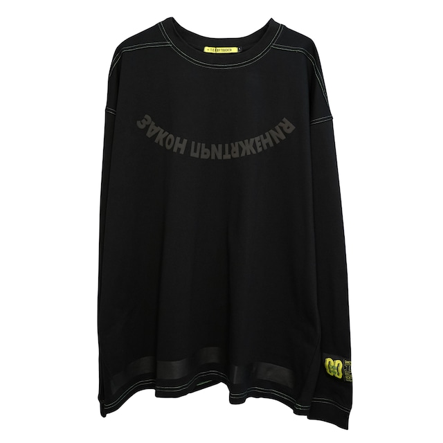 OVERSIZED ATTRACTION L/S TEE - BLACK/GREEN