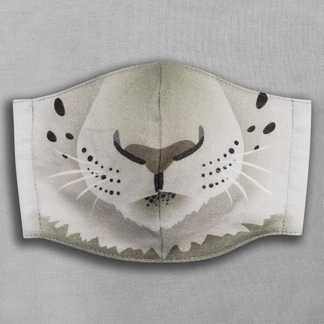 【抗菌・抗ウィルス加工マスク/受注販売】ユキヒョウ|動物マスク