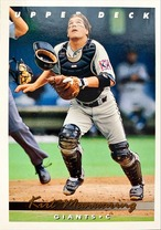 MLBカード 93UPPERDECK Kirt Manwaring #179 GIANTS