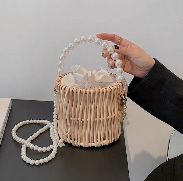 pearl basket bag