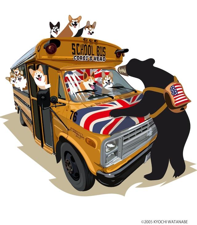 No.2021-summer-Tetobag002-4 :  バッグデザイナーさん限定1点もの ハードタイプ  裏のコーギーズヘッドロゴが赤色 3way ショルダー、トート、カートbag :デザイナーさんコラボ カートバッグ グランピング コーギーシリーズ