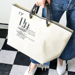 [OUTLET] N.I.B(エヌ・アイ・ビー) ×minoriTY-fun 別注ロゴトートバッグ