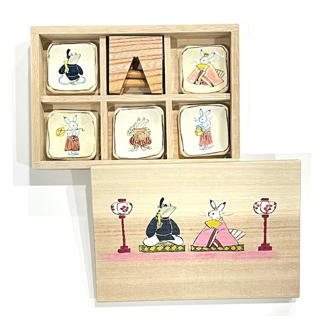 【ご予約商品】高山寺画 雛祭り 箸置き《陶泉窯》