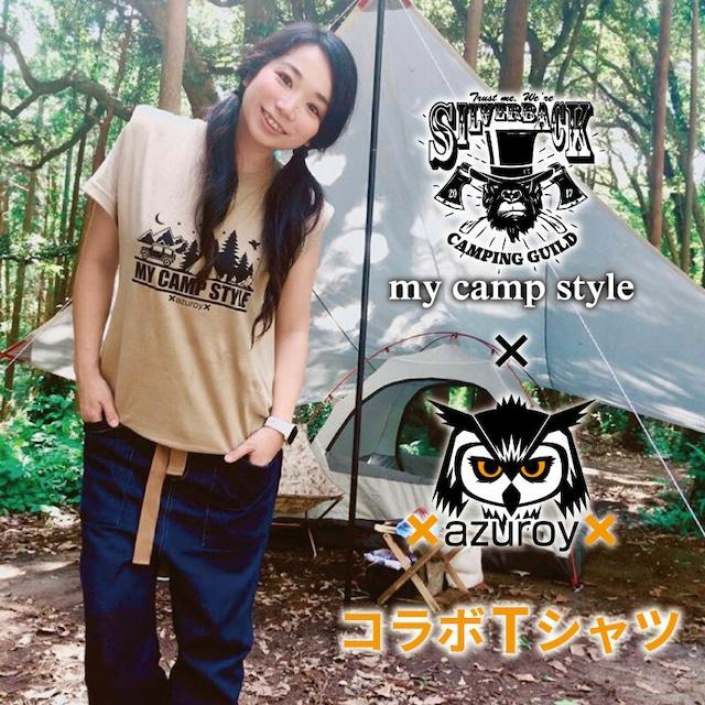 ★再販100枚限定★my camp style  x azuroy x 2019 コラボTシャツ