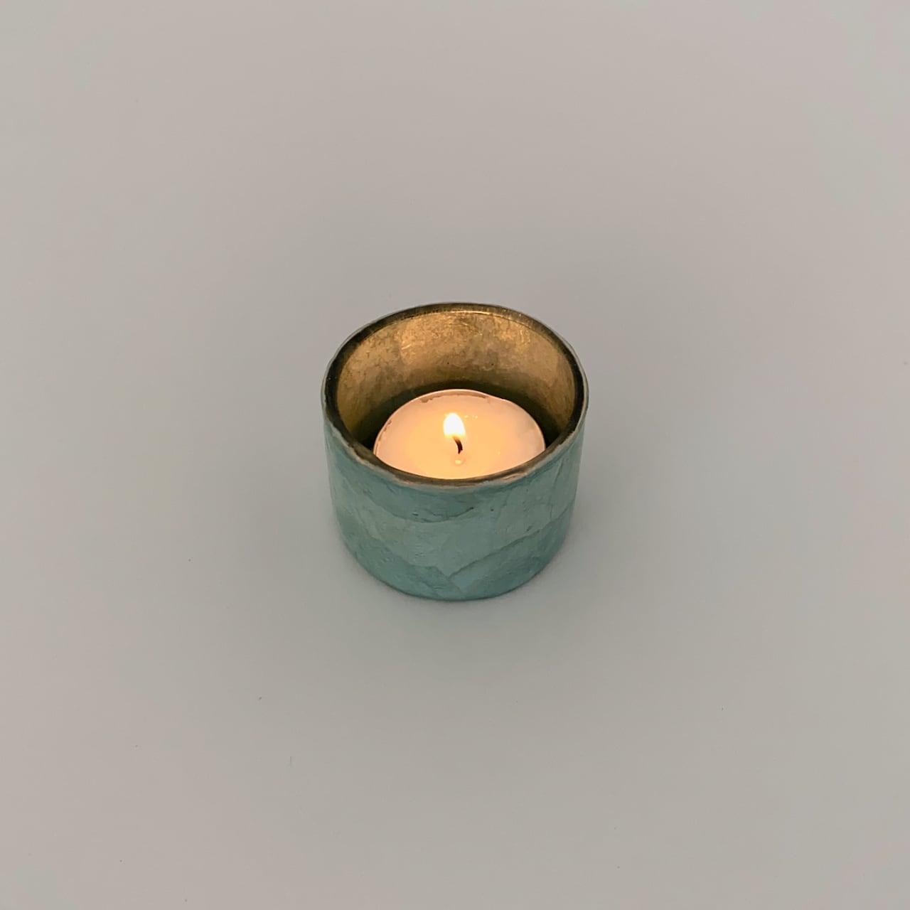 Votive Candleholder Turquoise Greyed Mint|ボーティブ キャンドルホルダー ターコイズ グレイドミント