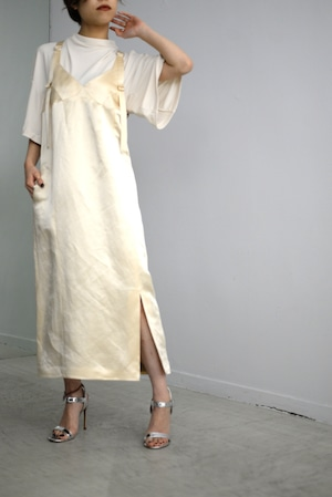 YOHEI OHNO / silk linen satin dress