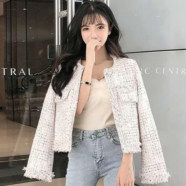 【アウター】定番シンプル 美人度アップ ファッション スウィート ボタン ダイス柄 シングルブレスト ジャケット52929967