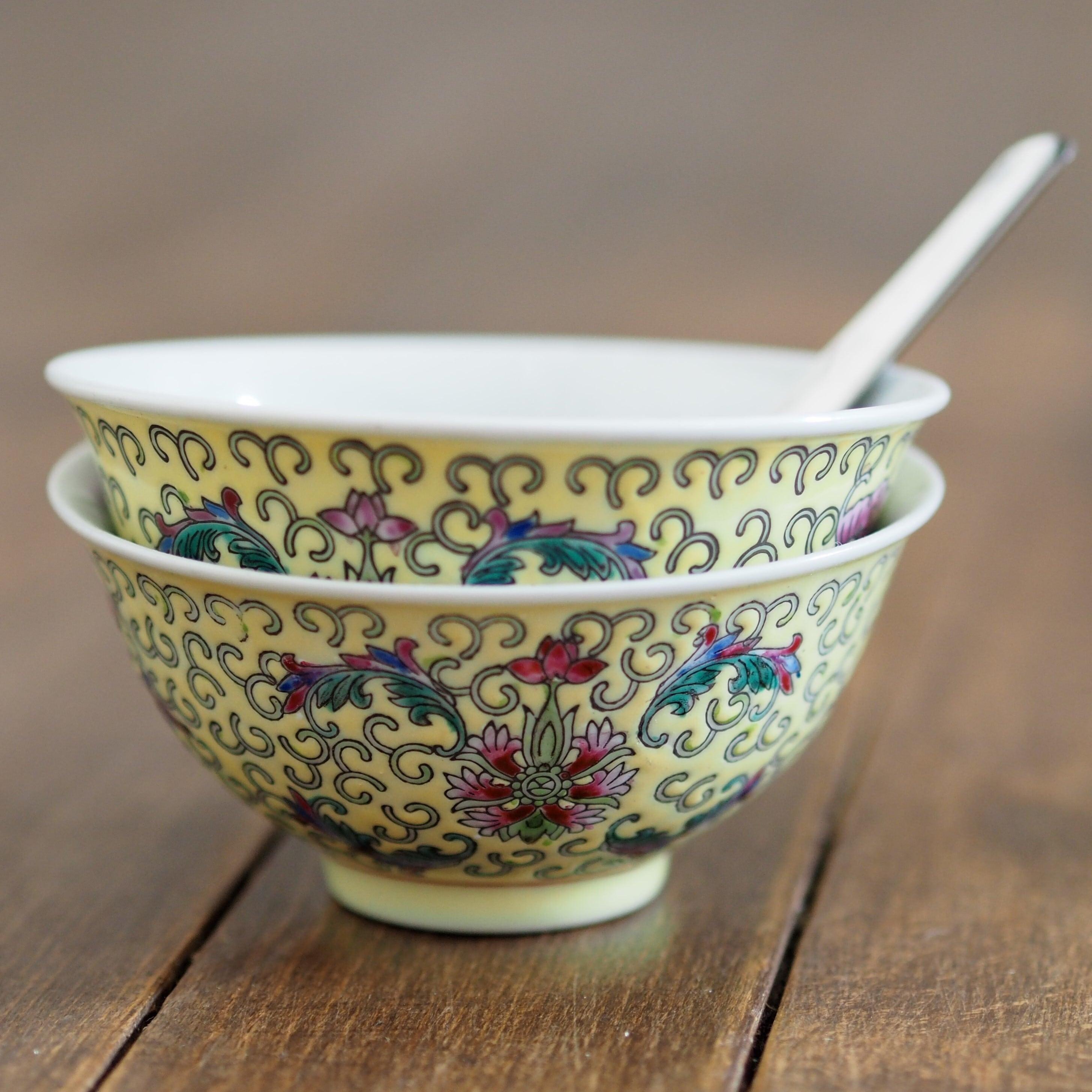 『華黄の茶碗(ふつうサイズ)』景徳鎮