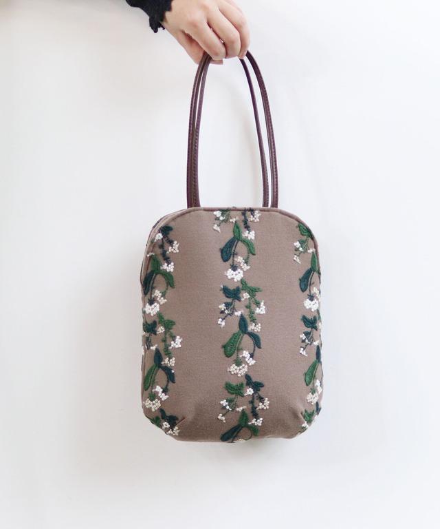 撫菜刺繍のminiバッグ(BAG0007)