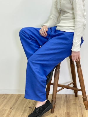 Vintage Blue Tuck Trousers Made In Russia