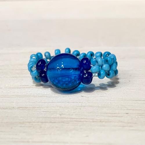 Item851 ヴェネチアンコンテリエのリング BLUE BLUE