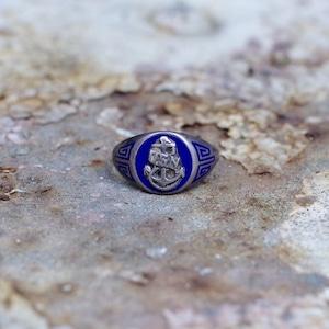 US NAVY Vintage Silver Ring / 40年代〜 USN Sterling ミリタリー シルバー リング