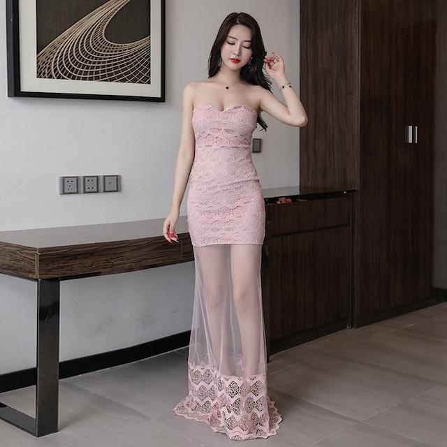 6色 刺繡 レース 高級 セクシー 着痩せ 指名up ロングドレス キャバドレス MY2100