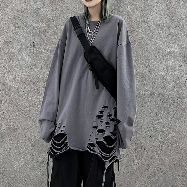 ダメージオーバーシャツ(全3色) / HWG240