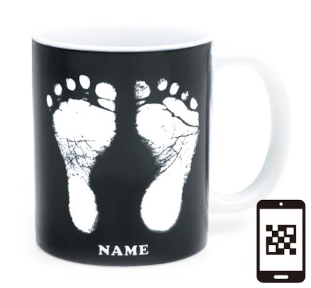 ai mug   A-type (BLACK) QRコード付き