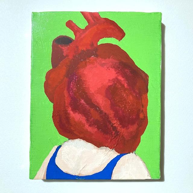 HEART HUMAN #4(2017) / 18cm×14cm / Acrylic painting / Original Drawing