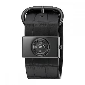 Marc by Marc Jacobs Black Mbm1395 - Viv Leather Strap Watch