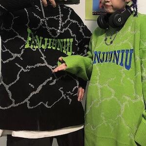 FANJIUNIUラウンドネックセーター(全2色) / HWG089