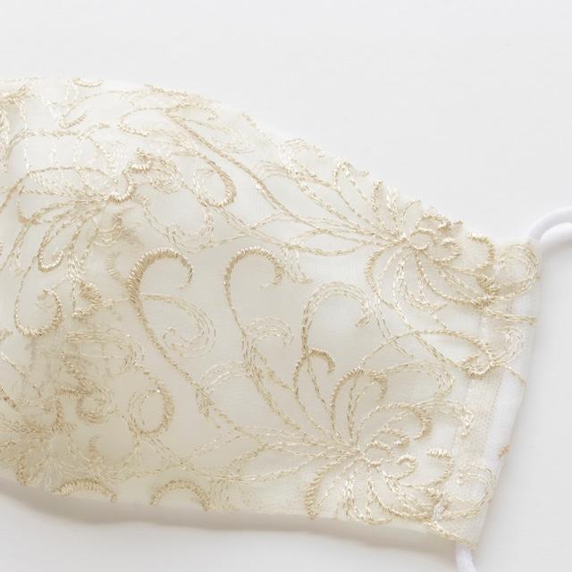 クチュール絹マスク(ゴールド)