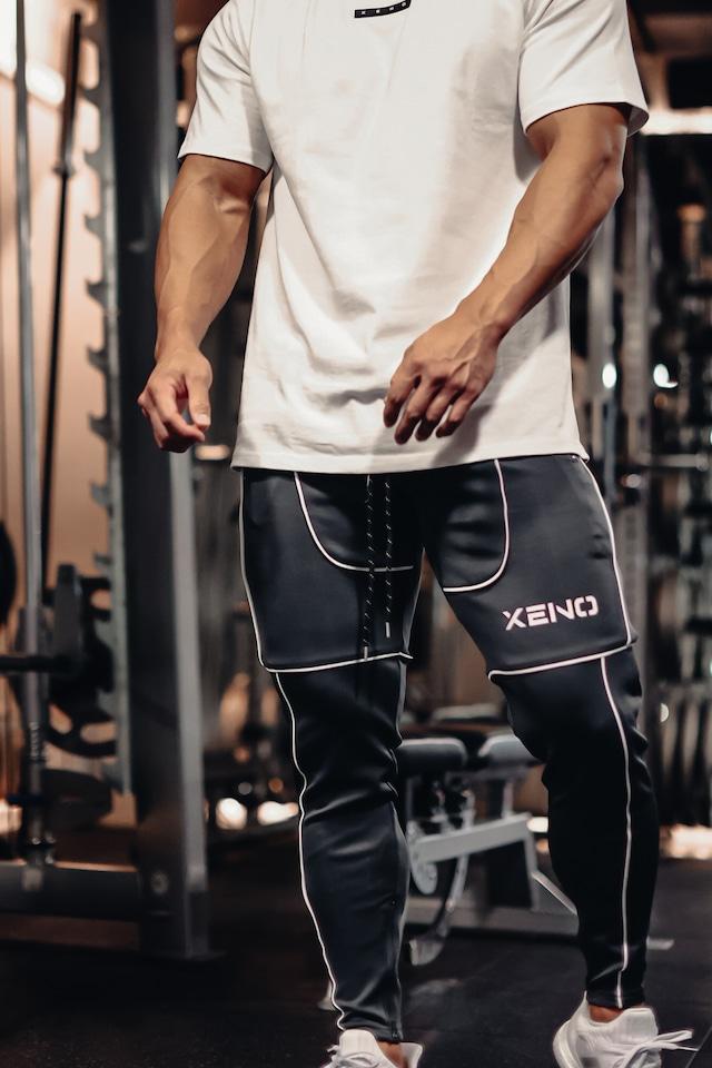 XENO ATHLETIC LINE PANTS GrayWhite