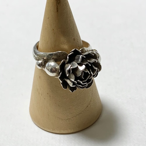 Vintage Sterling Flower Ring Made In Mexico