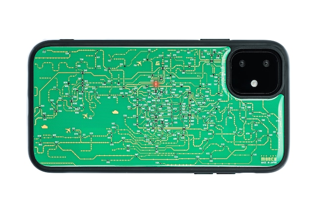 FLASH 関西回路線図 iPhone 11 ケース  緑【東京回路線図A5クリアファイルをプレゼント】