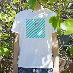 【mt.souvenir】オーダー山Tシャツ/ボーダー×ホトリ山(化繊)