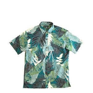 Mountain Men's ボタンダウンアロハシャツ / ginger   / blue green