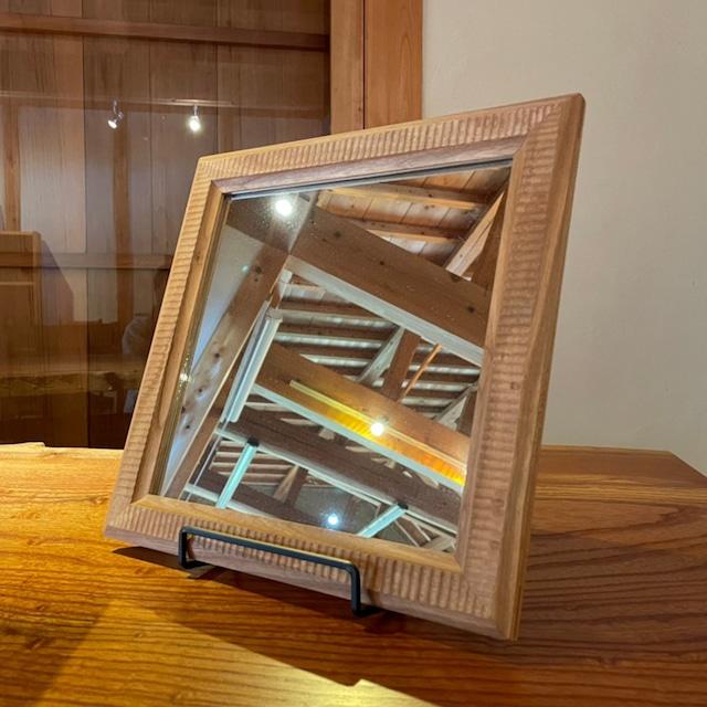 チェリー材 鏡 300×300(mm)