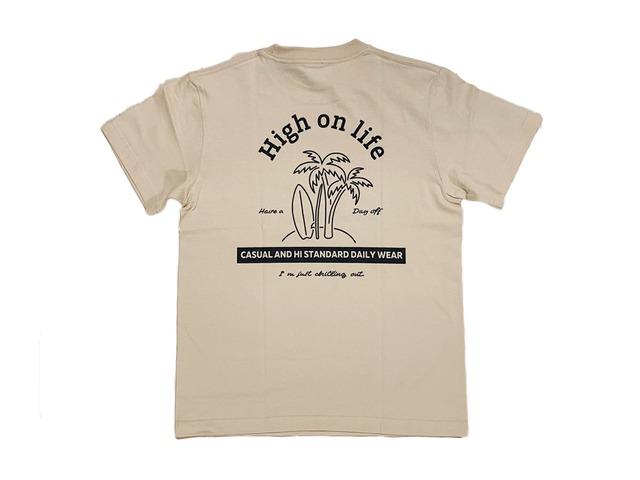 【high on life T-shirt】/ sand beige