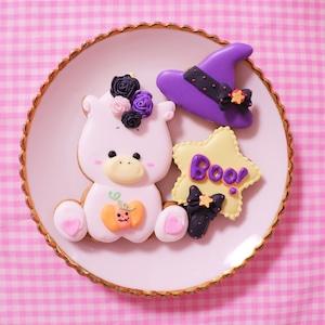 ハロウィンユニコーンアイシングクッキー♡
