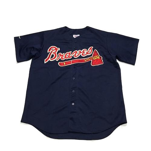 90's Majestic ブレーブス ベースボールシャツ